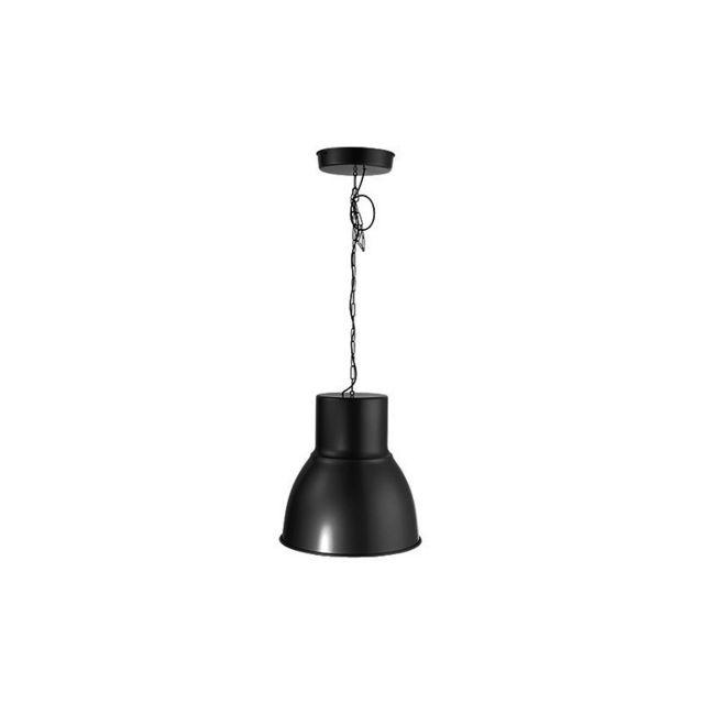 millumine grande suspension industrielle hangar noire pas cher achat vente suspensions. Black Bedroom Furniture Sets. Home Design Ideas