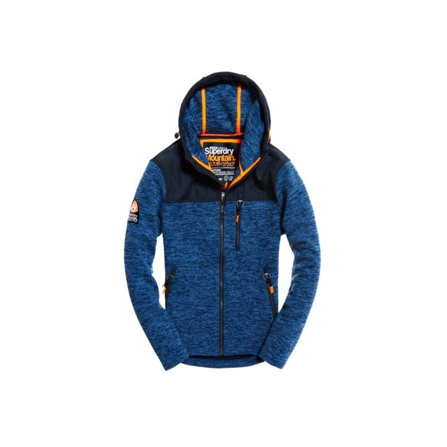 Superdry - Sweat Storm Mountain Denim   Navy Black Bleu Marine - pas cher  Achat   Vente Sweat homme - RueDuCommerce 479df2afb2d9