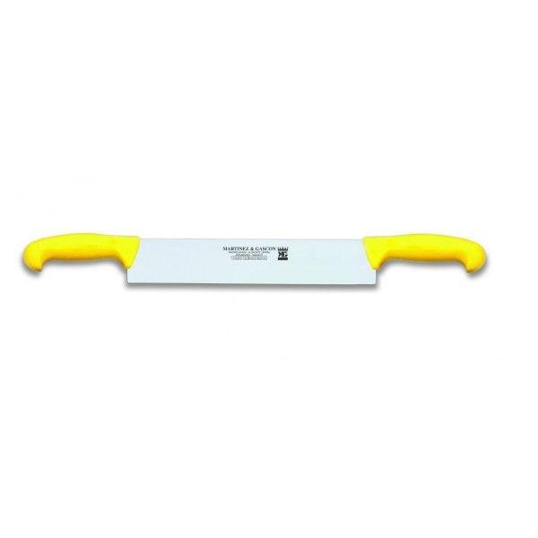 Martinez & Gascon Couteau à fromage 2 manches jaune - 32cm