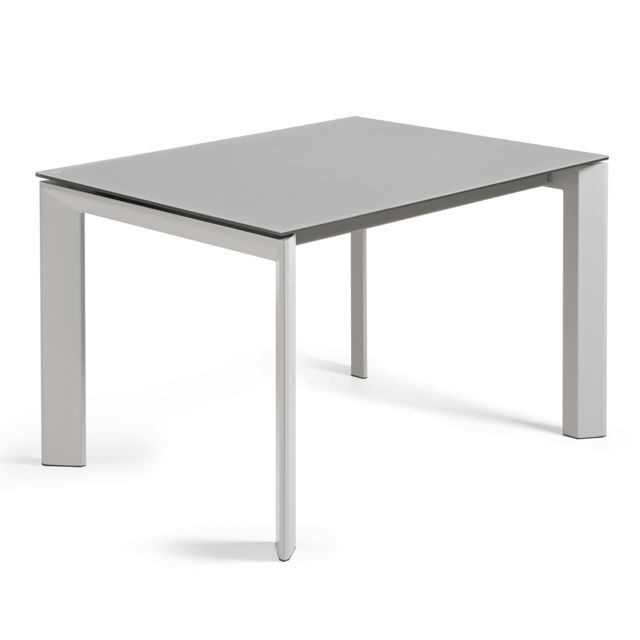 Kavehome Table extensible Axis, gris - 120 160, x80 cm