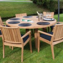 Table jardin ronde - catalogue 2019 - [RueDuCommerce - Carrefour]
