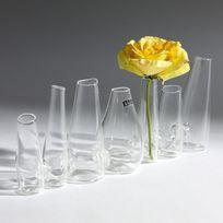 Serax - Vase verre 7 vases forme cone attaché l.29 H.9.5cm Farandole