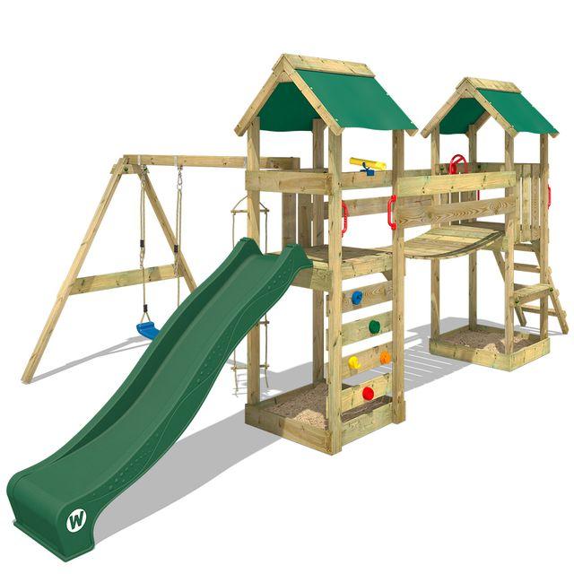 wickey aire de jeux en bois sunflyer portique de jeux. Black Bedroom Furniture Sets. Home Design Ideas