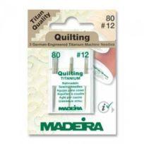 MADEIRA - Aiguille Quilting Titanium 80 , 12 Art. M