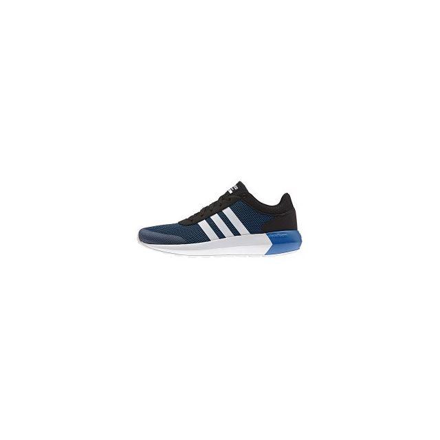 Adidas Chaussures neo Cloudfoam Race bleu noir pas cher