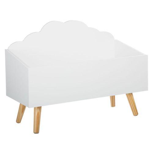 atmosphera coffre jouets nuage blanc en bois pas cher achat vente tapis rueducommerce. Black Bedroom Furniture Sets. Home Design Ideas