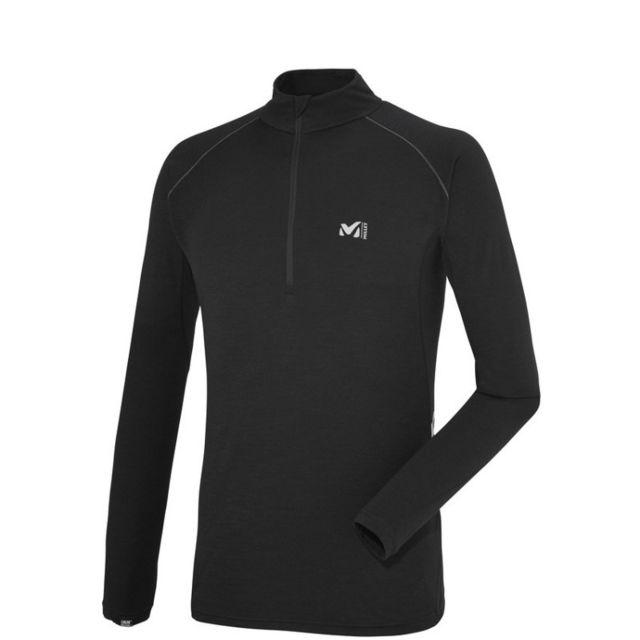 Millet C Wool Blend 150 Zip Ls Homme Black - Noir