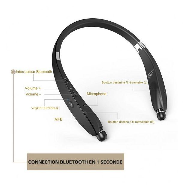 Alpexe Casque Ecouteur Sport Bluetooth 41 Tour De Cou Design Avec