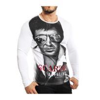 Jeel - BlackRock - T-shirt Scraface blanc manches longues