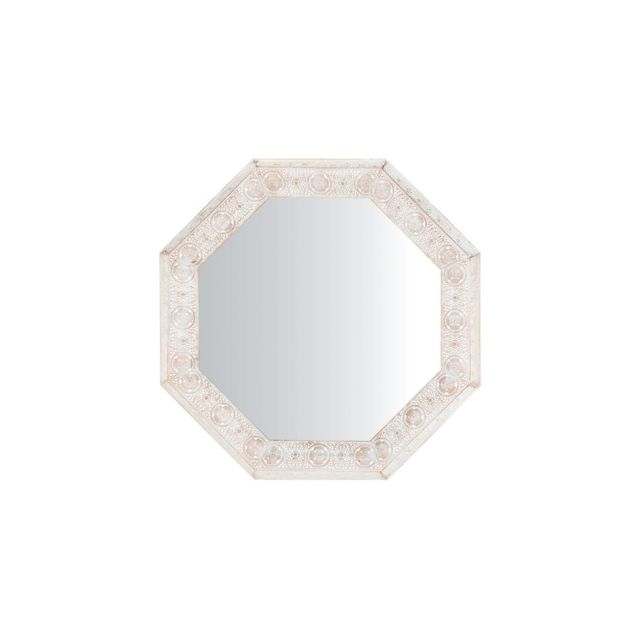 BELIANI Miroir blanc et cuivré 84 x 84 cm SATARA - argent