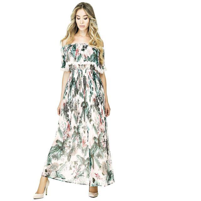 Vanessa Taille Multicolore M Nature Robe Longue Femme Imprimé pSUzMqV
