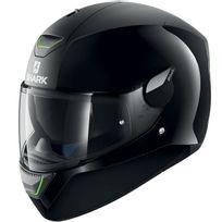 Shark - casque moto intégral polycarbonate Skwal Dual Blk noir mat brillant Promo S