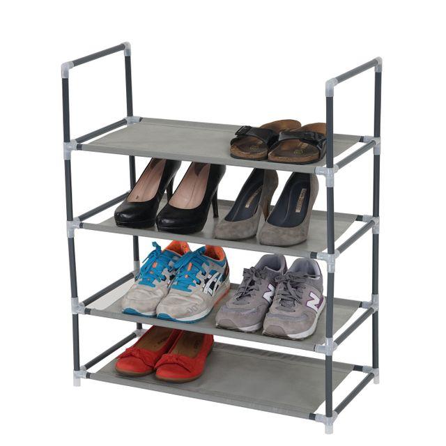Mendler Étagères à <strong>chaussures</strong> brügge range <strong>chaussures</strong> 4 fonds pour 8 paires de <strong>chaussures</strong>