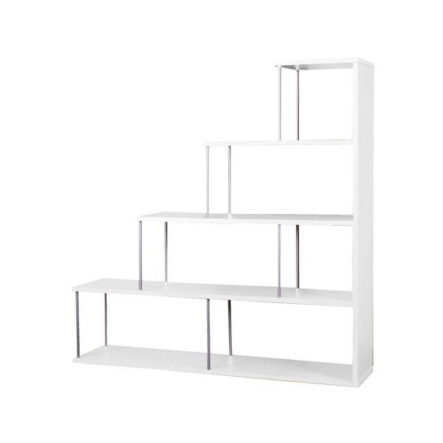 etag re biblioth que blanche. Black Bedroom Furniture Sets. Home Design Ideas