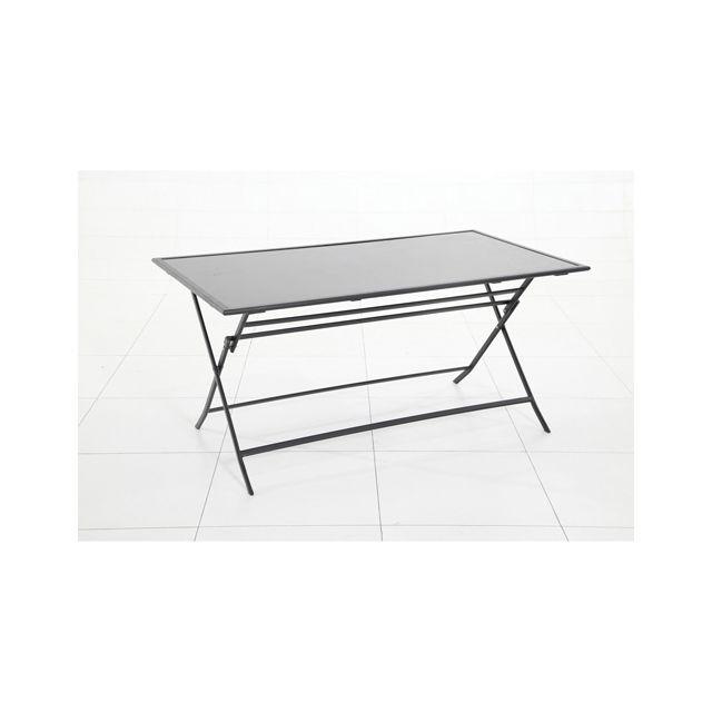 Hespéride - Table d\'extérieur pliante Flexia - 6 Places ...