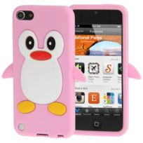 Techexpert - Coque silicone cartoon Pingouin rose pour ipod touch 5 et ipod touch 6