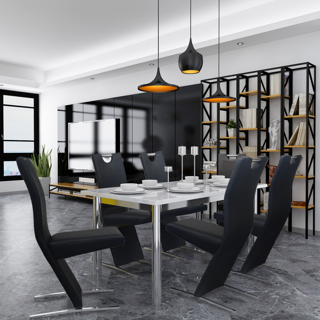 Vidaxl Chaises de salle à manger 6 pcs Noir en cuir artificiel