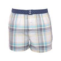 Arthur - Caleçon club à carreaux multicolores pastel et ceinture bleu marine à motifs ours