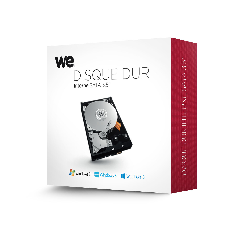 Disque dur interne WD Blue 3 To 3.5'' SATA III 6 Gb/s Cache 64 Mo Western Digital