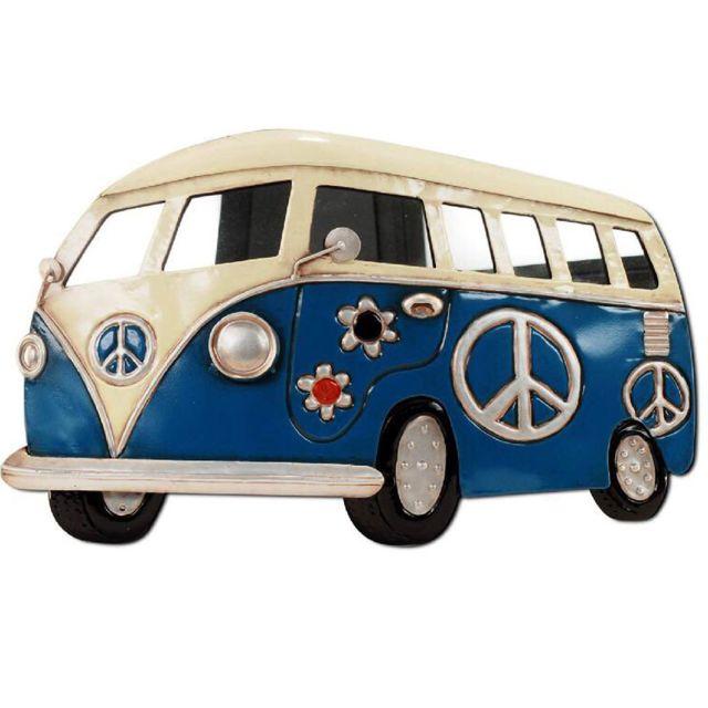 Sudtrading Miroir Combi peace and Love Bleu