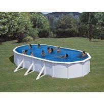 Gre Pools - Kit piscine hors sol acier ovale Fidji avec renforts apparents