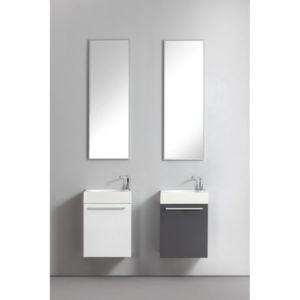 casa baoli ensemble meuble salle de bains lave mains wc blanc laqu pas cher achat vente. Black Bedroom Furniture Sets. Home Design Ideas
