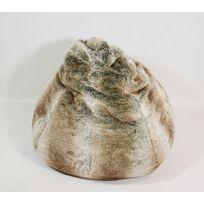 Coussineo - Poire fourrure Loup 80x110 cm