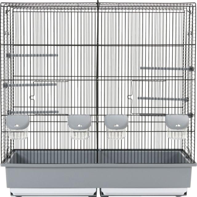c73aa63f573606 Zolux - Cage Family 10 noir gris - pas cher Achat   Vente Cage à ...