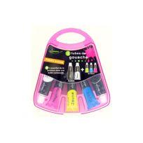 Ulmann - Boite de peinture essentielle 5 tubes de gouache 2x20ml + 3x10ml, couleurs primaires + palette intégrée