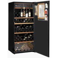 Climadiff - Cave à vin multi-usages - 3 temp 203 bouteilles - Noir Aci-cli566-2 - Pose libre