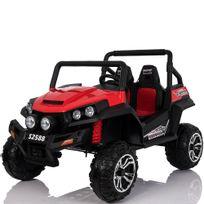 Voiture Electrique - Grand 4x4 buggy voiture électrique enfant 2 places pneus Eva 24V Rouge