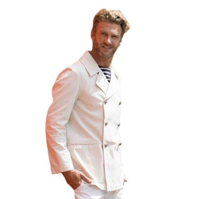 Dalmard Marine - Caban marin toile de coton Couleur - blanc, Taille Homme -  S 8cb848468779