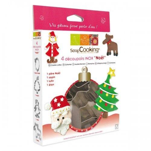 Scrapcooking Boîte de 4 découpoirs emporte-pièce 'Noël