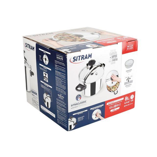 SITRAM - Autocuiseur en inox à poignée et vérouillage tous feux dont induction 8L SITRACLASSIC