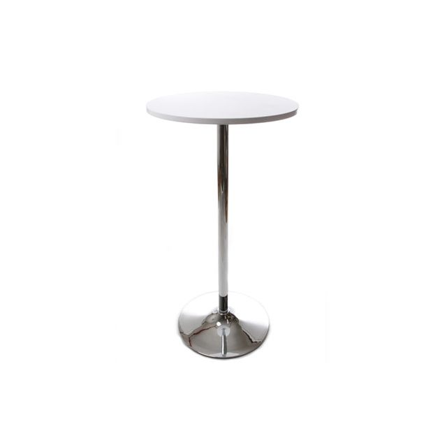 Table bar design 60x60x110cm Lilou - blanc
