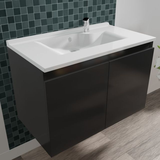 CREAZUR Caisson simple vasque PROLINE 80 - Gris anthracite