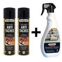 Guard Industrie - Nettoyant détachant textile Texclean + 2 Sprays antitache TexGuard