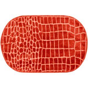 Promobo tapis de salle de bain design croco animal for Tapis salle de bain rouge