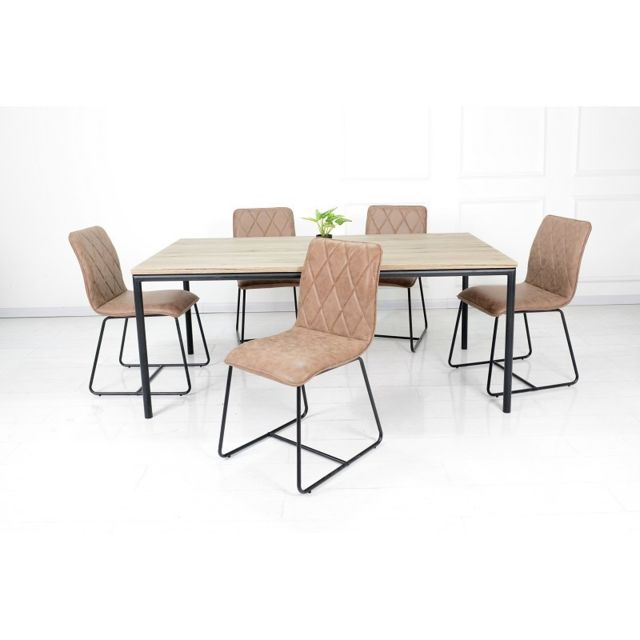 Price Factory Ensemble Une Table 200 Cm Mozes 6 Chaises Lea