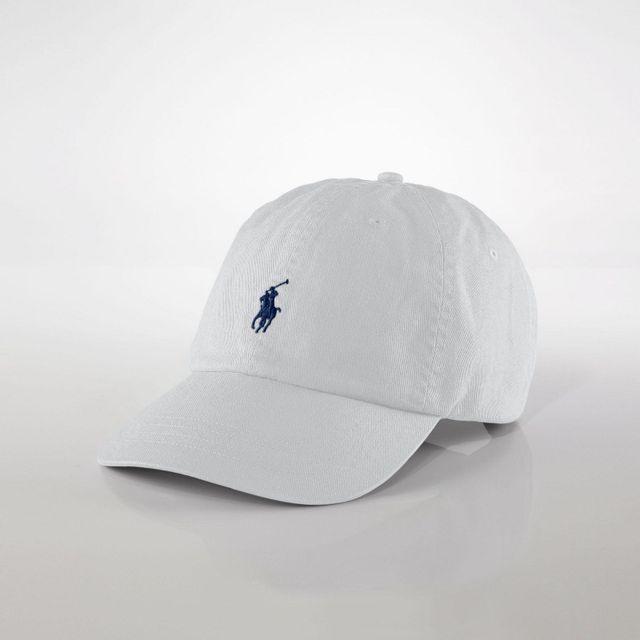 47a76e6c7da248 Ralph Lauren - Casquette de baseball unisxexe blanc - pas cher Achat ...