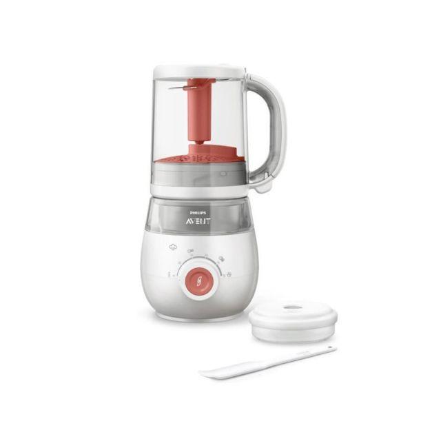 Philips Avent Robot cuiseur-mixeur - 1000 ml - Rouge