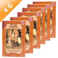 Tous - Lot de 6 Henné Cuivre Henné Color - 100gr poudre