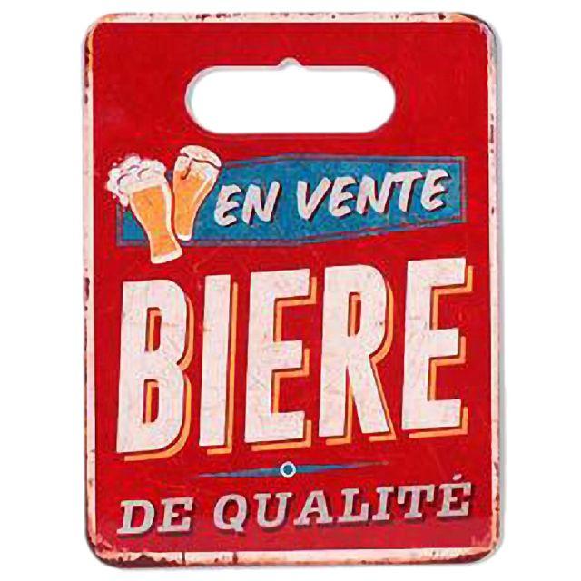 Foxtrot Sous plat en Céramique et Liège thème Bière 24 x 18 cm