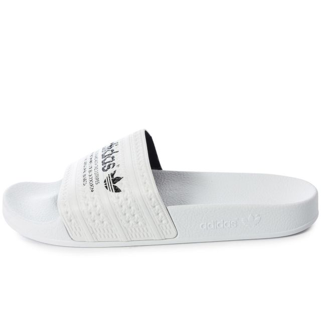 Adidas originals - Adilette Blanche Et Noire