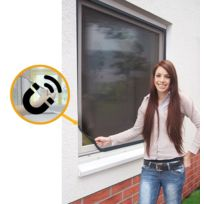 Empasa - Moustiquaire Cadre fixe Fenêtre Magnetique - Pvc Gris L120 x H140 cm à découper soi-même