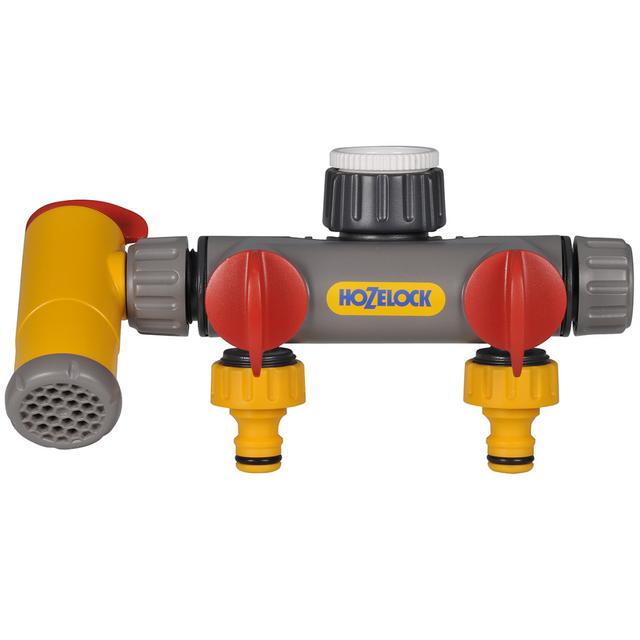 Hozelock Raccord de robinet à 3 voies Flowmax 2250 0000