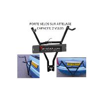 Porte vélo de voiture sur attelage + porte plaque immat