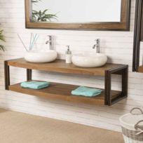 wanda collection meuble double suspendu elgance teck mtal 145 cm