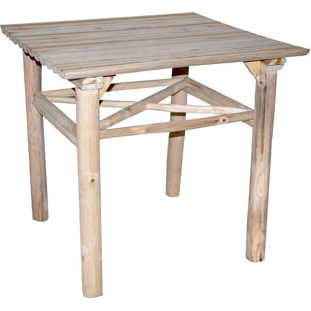 ZAGO Table à manger en teck Refuge