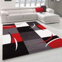 UN AMOUR DE TAPIS - Tapis DIAMOND 665 110 160x230 AMZ rouge Tapis Moderne 160 x 230 cm rouge 160 x 230 cm